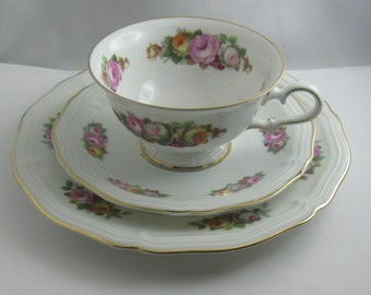 ROSENTHAL Bavaria. Porcelain Sammeltasse / collection cup / coffee set (3-piece). CHIPPENDALE. Probably 30s. Collectible. VINTAGE