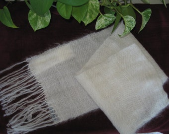 Light, airy, elegant hand woven kid mohair scarf