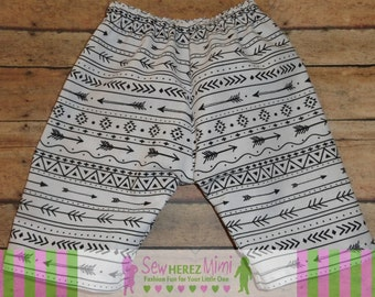 Aztec Arrow Coming Home Newborn Pants Boy or Girl Optional Bow Tie or Headband