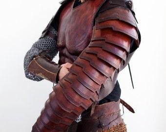 Roman Manica, Arm Bracer, leather Bracer, leather armor, armor bracer, larp bracer, Steampunk arm bracer