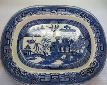 Blue Willow, Buffalo Pottery, 1909, Semi-Vitreous