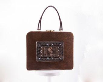 Vintage 1950s Pearlized Tortoise Shell Lucite Handbag  • Revival Vintage Boutique