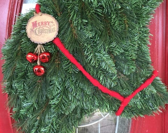 Vintage Christmas Cow Wreath
