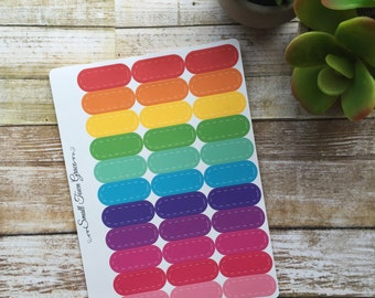 Planner Stickers- Rounded Event Stickers- Great for Erin Condren planners, Inkwell, Emily Ley, Day Designer, etc