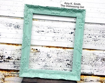 chunky 16x20 mint green ornate picture frame victorian princess wedding frame fancy
