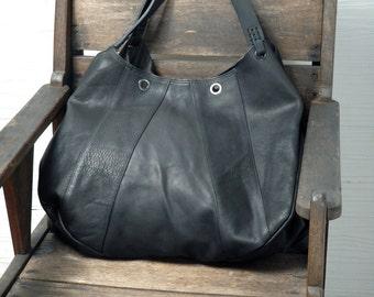 Leather shopping bag | Etsy