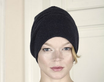Knitted Cashmere Beanie Winter Hat