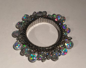 SALE! Vintage Sparkling Charm Stretch Bracelet Vintage Jewelry Gift for Her