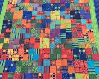 """Baby/Toddler Handmade Quilt in Primary Colors *48""""x 40"""""""