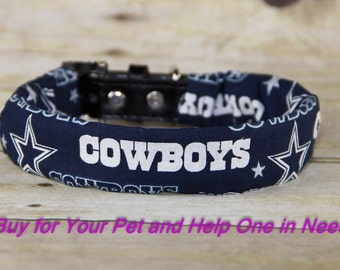 Dallas Cowboys Dog Collar Cover, Collar Accessories, All Teams Available! COLLAR NOT INCLUDED