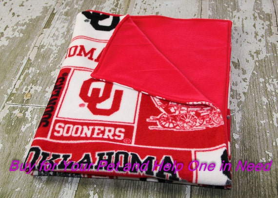 ou oklahoma sooners blanket for dog cat baby by focusforacause