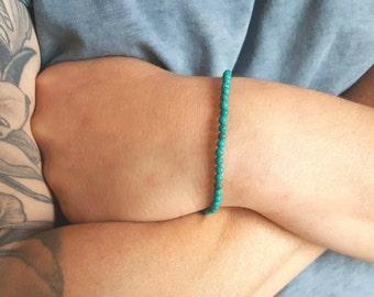 Mens  Bracelet 4mm Turquoise Bracelet Tiger's Eye Bracelet Onyx Bracelet Gemstone Bracelets Beaded Bracelets Mens Jewelry Gemstone Jewelry