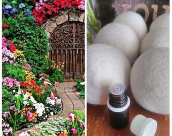 Secret Garden,Wool Dryer Ball Scents,oils,cloth diapers,dryer ball,felted ball,dryer balls set,refill,secret garden,fragrance,laundry