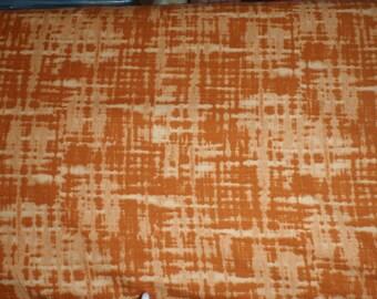 RIVERWOODS Troy College Orange Blender Tonal Solid Plaid Fabric BTY
