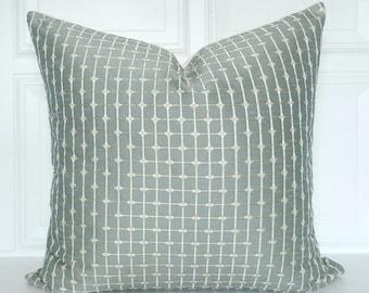 Grey Pillow Cover - Decorative Pillow - 18x18, 20x20, 22x22, Lumbar - Gray, Ivory - Throw Pillow - Grey Decor - Toss Pillow - Accent Pillow