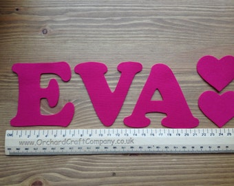 Iron On Fabric Applique Letters and Numbers 7.5 cm (3 Inch ) Plain colours