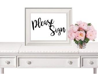 Guestbook Sign, Wedding Sign, Wedding Guesbook Sign, Wedding Printable