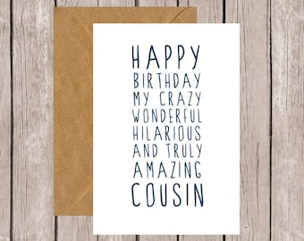 Cousins gift Etsy