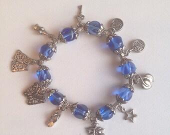 Beachy blue charm bracelet
