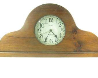 westclox electric mantle clock vintage wooden clock chime mantle clock - Mantle Clock