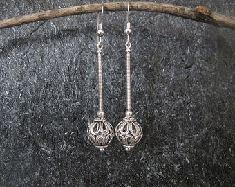 Jewelry, Filigree  silver  earrings,  Silver earrings , Yemenite earrings, Israel jewelry,filigree earrings