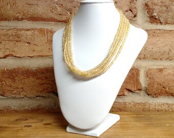 Light gold multistrand seed bead necklace