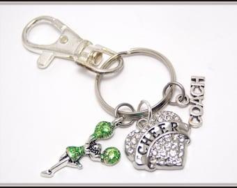 Cheer Coach Zipper Pull - Cheer Coach Gift - Cheerleader Zipper Pull - Jacket Zipper Pull - Bag Charm - Gym Bag Zipper Pull - Purse Charm