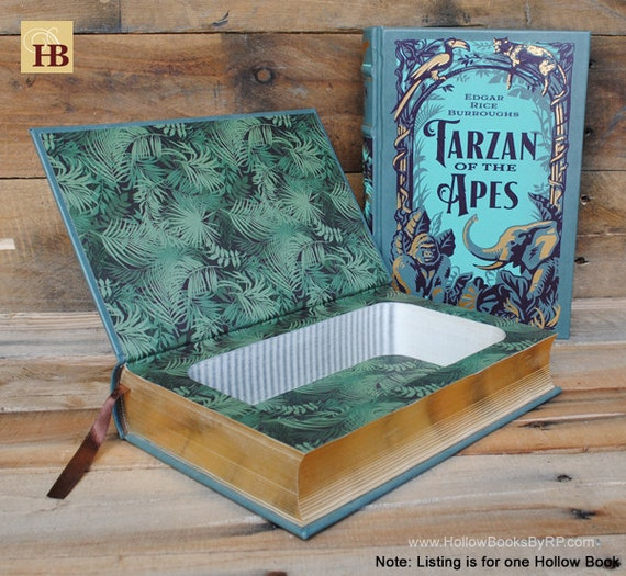 Book Safe - Tarzan of the Apes - Leather Bound Hollow Book Safe
