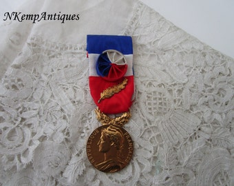 French medal with ribbon