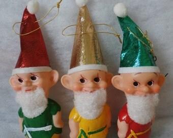 Vintage Made in Japan Pixie Elves Gnomes