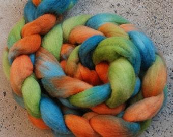 Hand dyed superfine merino combed top