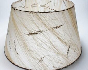 Mid Century Modern Wheat Fiberglass Lampshade - 1950's Table or Floor Lamp Shade -