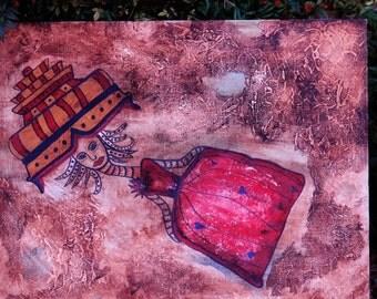 Lady Adrift Original Painting