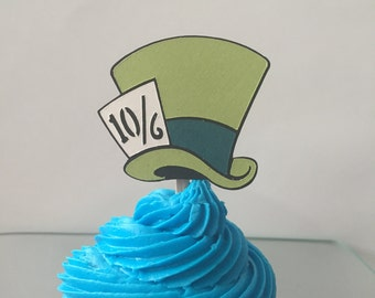 Disney's Alice in Wonderland's Madhatter Cupcake Topper