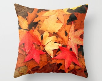 October Feelings Pillow Cover, Indoor Throw Pillow Cover, Throw Pillow Cover, Throw Pillow, Pillow Cover