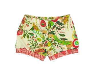 Baby Shorts, Toddler Shorts, Girls Shorts, Harem Shorts, Shorties, Bummies, Diaper Cover, Bloomers, Floral Shorts, Secret Garden Floral
