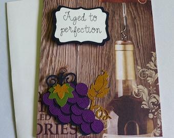 Wine Themed Birthday Card - Inside sentiment optional