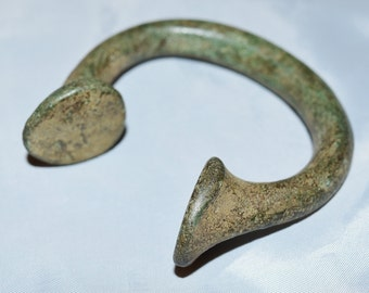 "West African Manilla Currency Slave ""Bracelets"" Antique Brass Copper Iron 1600's to 1800's"