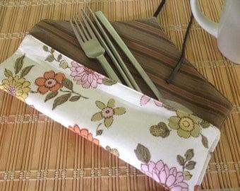Roll up utensil fabric pouch, chopsticks bag, chopsticks pouch, travel utensils bag, tools wrap, fabric chopsticks bag, utensil carrier,