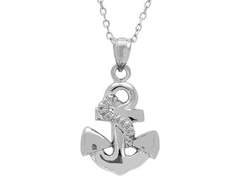 Sterling Silver Anchor Pendant, Anchor Necklace, Silver Anchor, Anchor Jewelry, Silver Pendant, Silver Necklace, Sterling Silver, Anchor