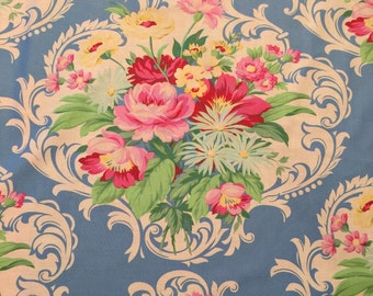 SALE Jennifer Paganelli Blue Floral Nicole Mod Girls Sis Boom Free Spirit Scroll By The Yard