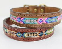 Handmade Seiba XL Dog Collar with Friendship Bracelet