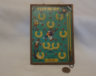 Antique Toy Flip-M-Up Game