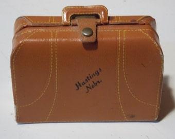 Antique Souvenir Suitcase Sewing Kit
