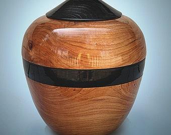 Companion Urn or Extra Large Urn,  Elegnace Style, Maple, or Cherry wood turned, signed original