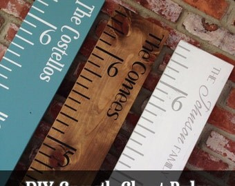 Reusable Growth Chart Ruler Stencils for DIY
