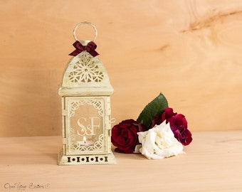Personalized Wedding Lantern-Rustic Moroccan Lantern-Personalized Candle Holder-Moroccan decor-Metal Candle Holder-Wedding Lighting