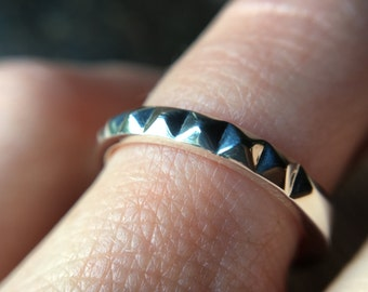 Studded Pyramid Stacking Ring