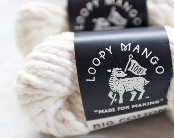 Big Cotton in Pearl from Loopy Mango