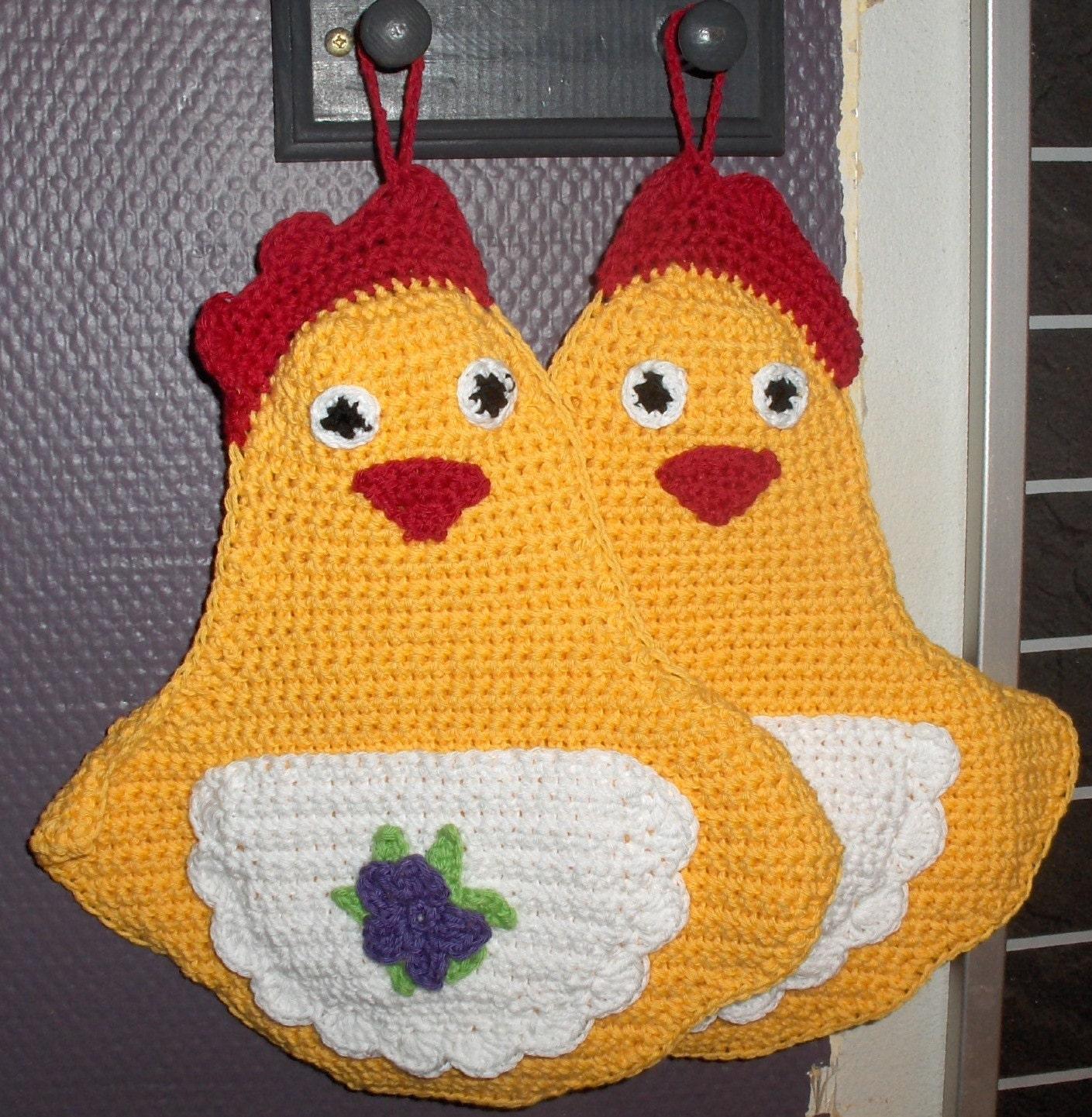 Easter Pot Holders Crochet